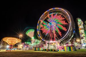 Photo of Itasca County Fair at night by Jordan Weis