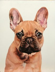 Portrait of a French bulldog by Serenity Barden